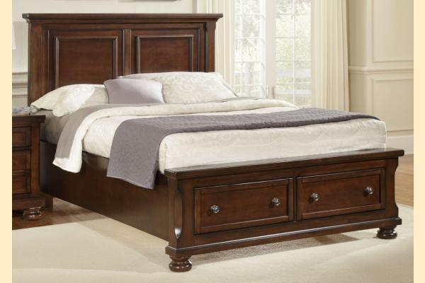 Virginia House Impressions-Dark Cherry King Mansion Storage Bed