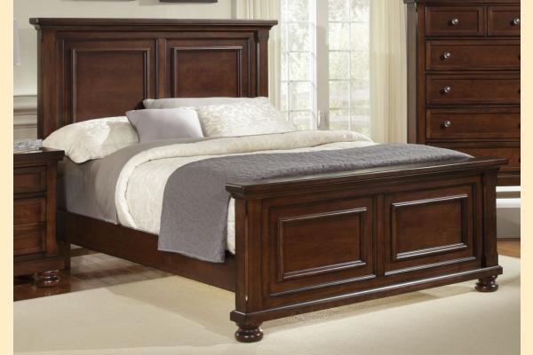 Virginia House Impressions-Dark Cherry King Mansion Bed