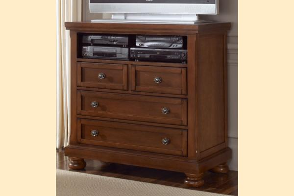 Vaughan Bassett Reflections-Medium Cherry Media Center