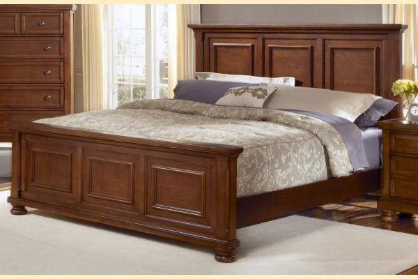 Vaughan Bassett Reflections-Medium Cherry Queen Mansion Bed