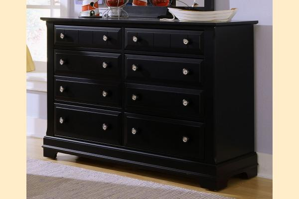 Vaughan Bassett Cottage-Black Double Dresser - 6 Drawers