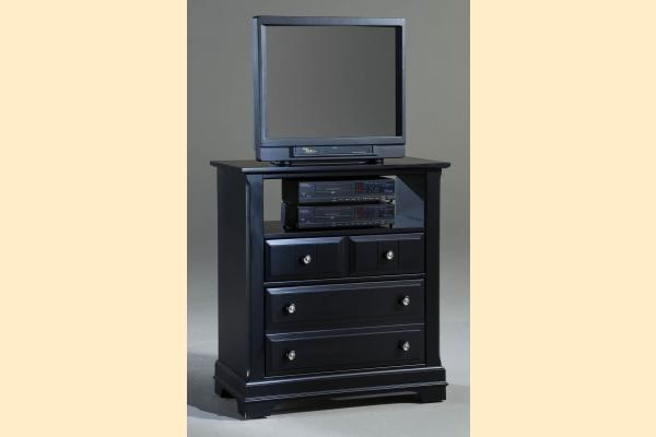 Vaughan Bassett Cottage-Black Media Chest