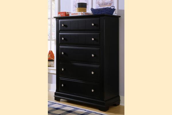 Vaughan Bassett Cottage-Black Chest - 5 Drawers