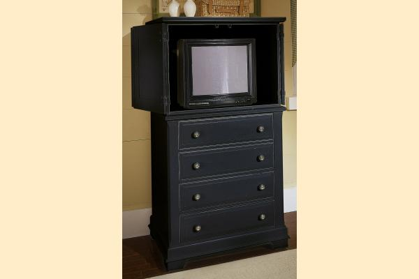 Vaughan Bassett Cottage-Black Vanity Chest