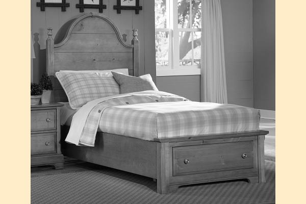 Vaughan Bassett Cottage-Black Twin Panel Storage Bed