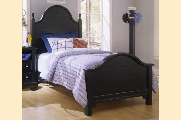 Vaughan Bassett Cottage-Black Twin Panel Bed