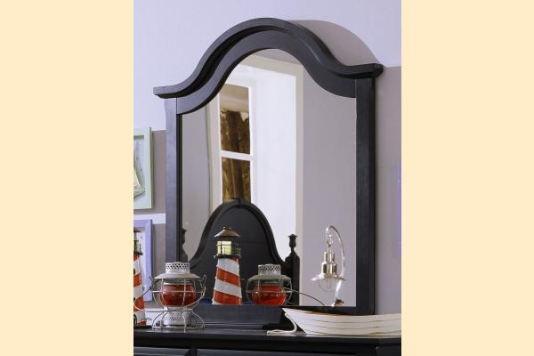 Vaughan Bassett Cottage-Black Vertical Mirror for Double Dresser