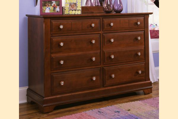 Vaughan Bassett Cottage-Cherry Double Dresser - 6 Drawers
