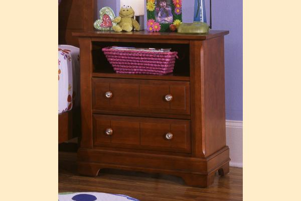 Vaughan Bassett Cottage-Cherry Commode - 2 Drawers and Shelf
