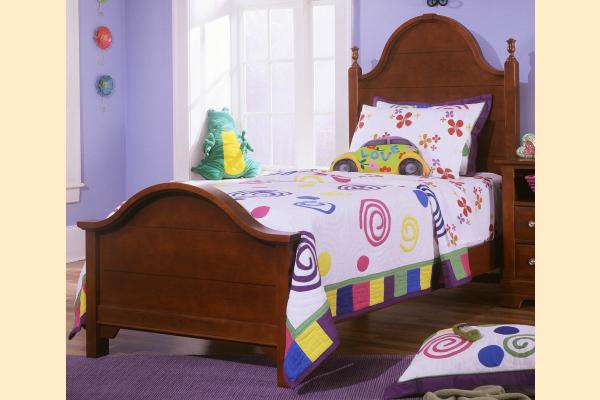 Vaughan Bassett Cottage-Cherry Twin Panel Bed