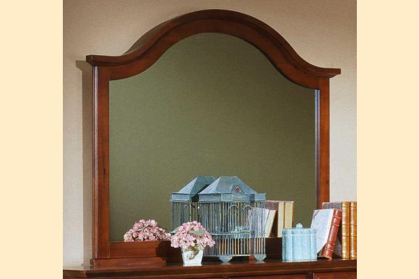 Vaughan Bassett Cottage-Cherry Landscape Mirror for Triple Dresser