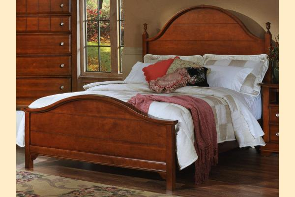 Vaughan Bassett Cottage-Cherry Queen Panel Bed