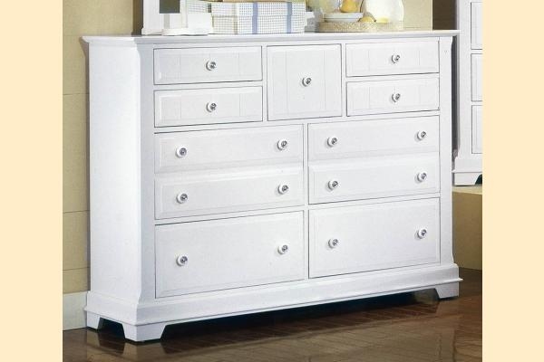 Vaughan Bassett Cottage-Snow White Triple Dresser - 9 Drawers