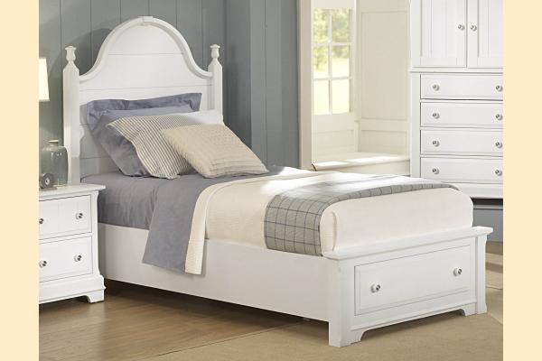 Vaughan Bassett Cottage-Snow White Twin Panel Storage Bed