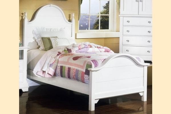 Vaughan Bassett Cottage-Snow White Twin Panel Bed