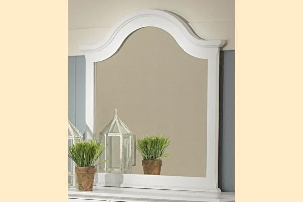 Vaughan Bassett Cottage-Snow White Vertical Mirror for Double Dresser