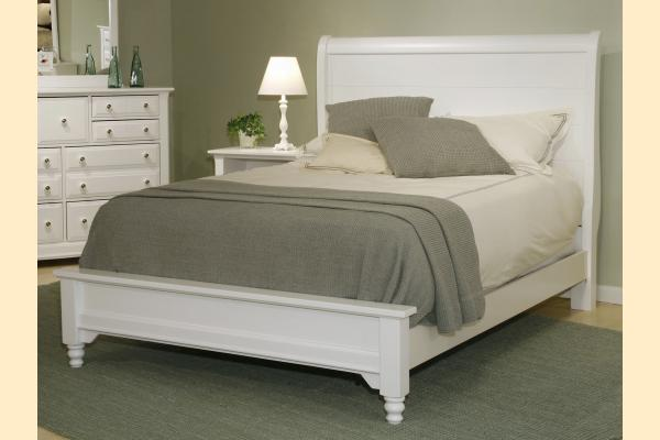 Vaughan Bassett Cottage-Snow White Standard King Sleigh Platform Look Bed