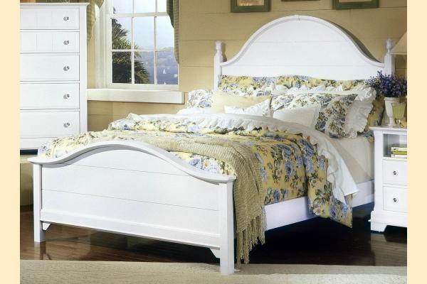 Vaughan Bassett Cottage-Snow White Standard King Panel Bed