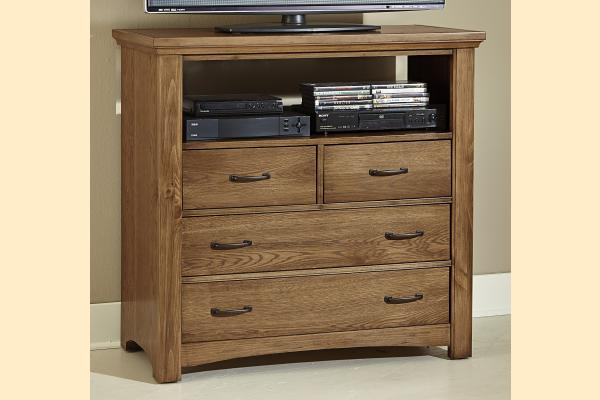 Vaughan Bassett Transitions-Dark Oak Media Chest