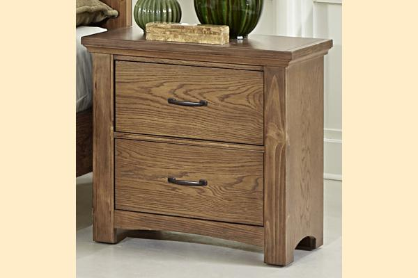 Vaughan Bassett Transitions-Dark Oak Nightstand