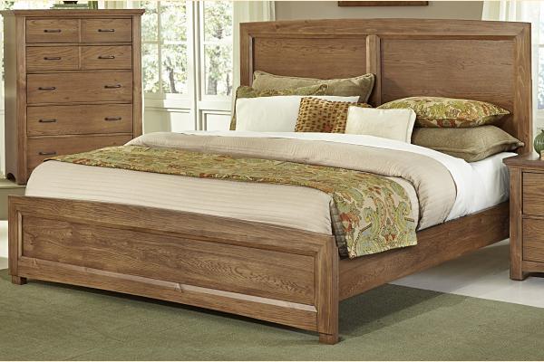 Vaughan Bassett Transitions-Dark Oak Queen Panel Bed