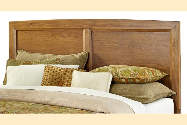 Vaughan Bassett Transitions-Dark Oak King Panel Headboard and Frame