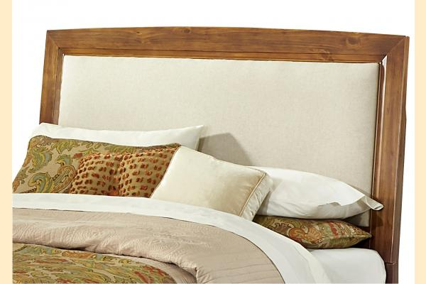 Vaughan Bassett Transitions-Dark Oak King Upholstered Headboard and Frame