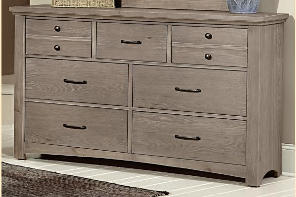 Vaughan Bassett Transitions-Driftwood Oak Dresser
