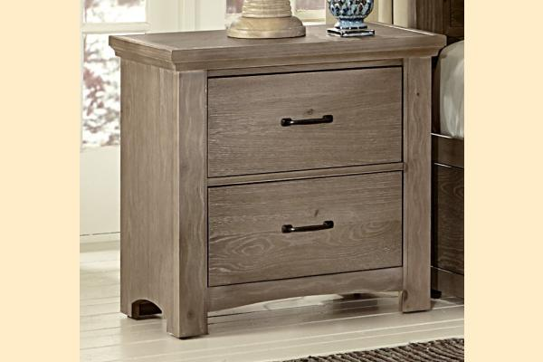 Vaughan Bassett Transitions-Driftwood Oak Nightstand