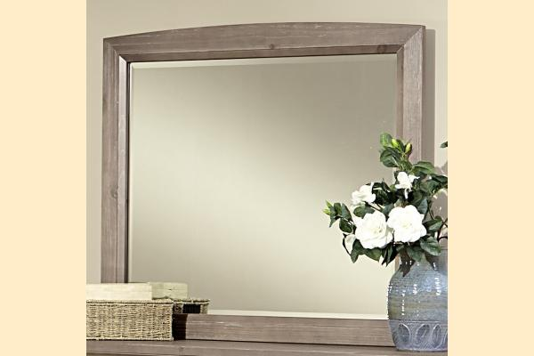 Vaughan Bassett Transitions-Driftwood Oak Landscape Mirror