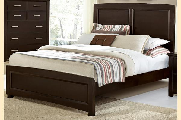 Vaughan Bassett Transitions-Merlot Queen Panel Bed