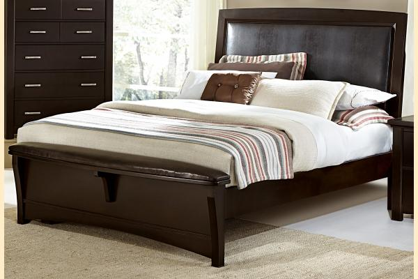 Vaughan Bassett Transitions-Merlot Queen Upholstered Bed