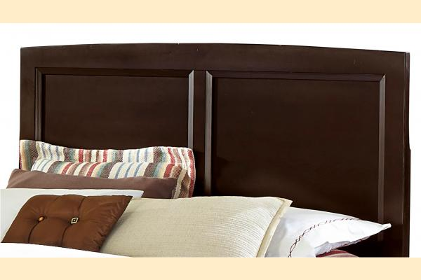 Vaughan Bassett Transitions-Merlot King Panel Headboard and Frame