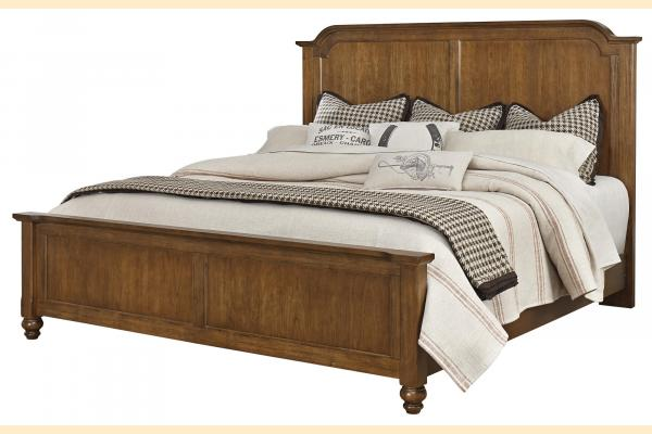 Vaughan Bassett Arrendelle-Antique Cherry Queen Mansion Bed