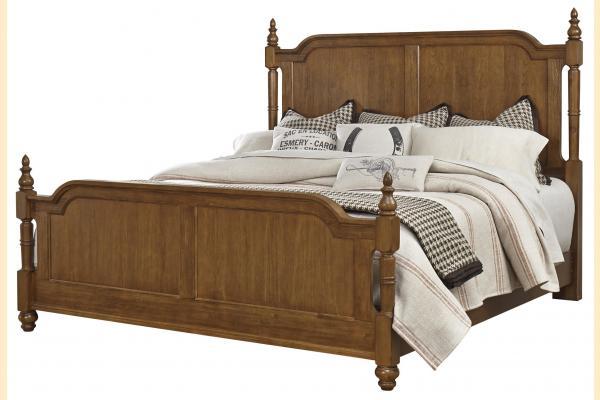 Vaughan Bassett Arrendelle-Antique Cherry King Poster Bed