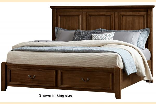 Virginia House Rustic Lodge-Cherry Queen Mansion Storage Bed