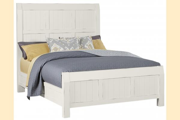 Vaughan Bassett Timber Creek-Distressed White Queen Timber Bed