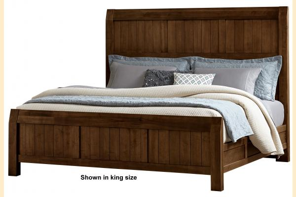 Virginia House Rustic Lodge-Cherry Queen Timber Bed