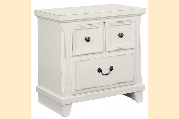 Vaughan Bassett Timber Creek-Distressed White Nightstand
