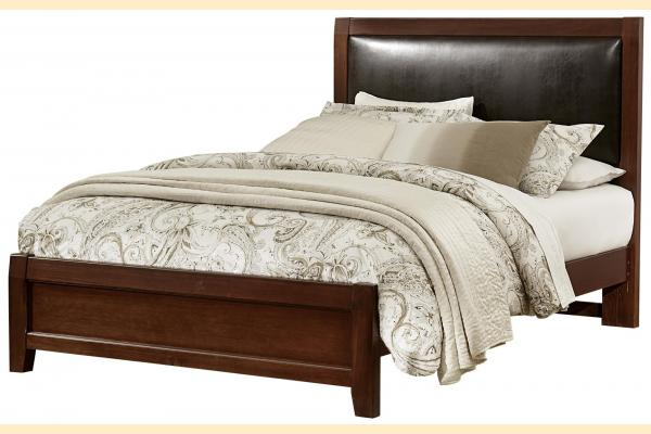 Virginia House Shire- Cherry King Upholstered Bed