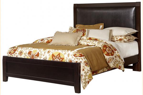 Virginia House Shire- Merlot King Upholstered Bed