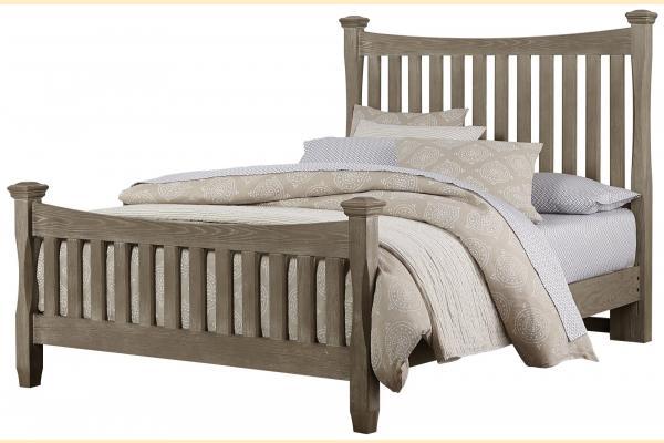 Virginia House Shire- Oak Queen Poster Bed