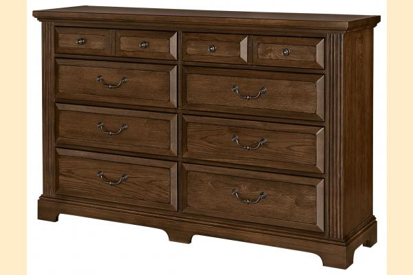 Vaughan Bassett Woodlands-Oak Triple Dresser