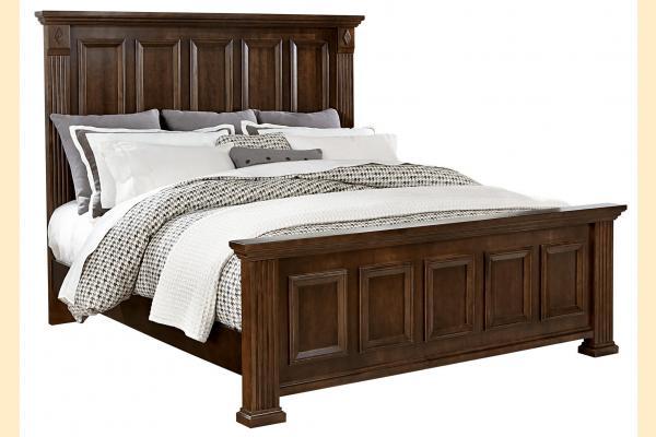 Vaughan Bassett Woodlands-Cherry Queen Mansion Bed